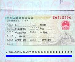 Chinese Visa, Visas for China